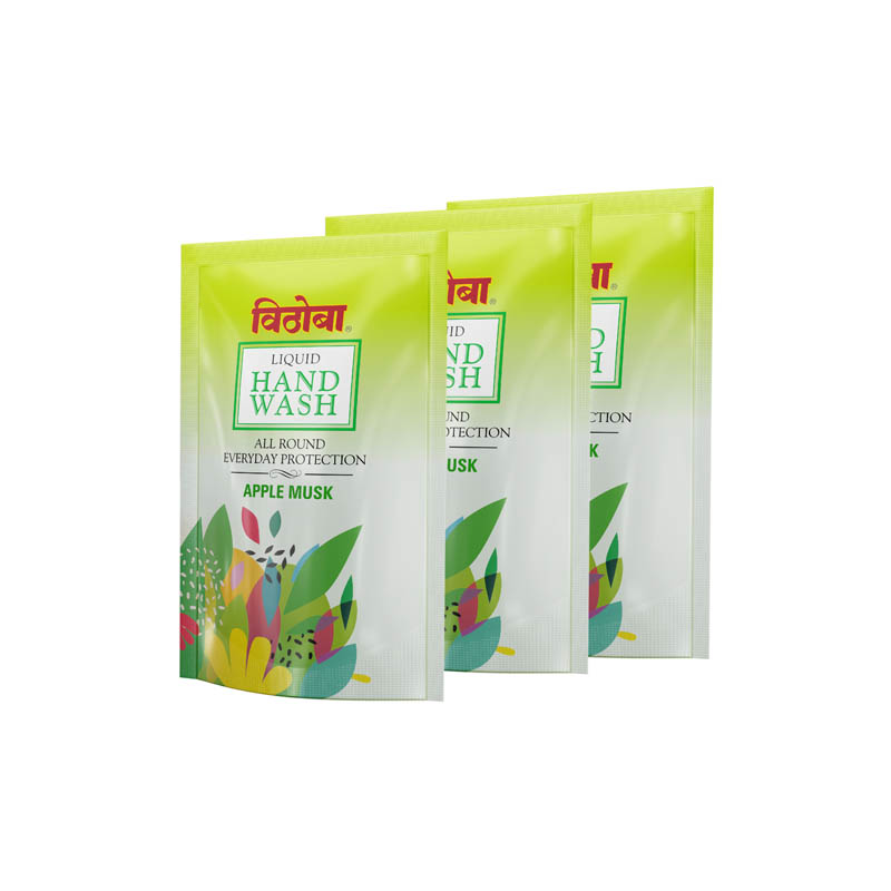 Vithoba Liquid Handwash Apple Musk – Money Saver Pack- 200Ml (Pack of 3)